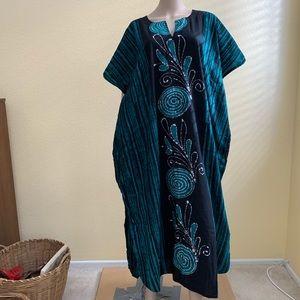 LALEELA Cotton Swirl Pattern Caftan